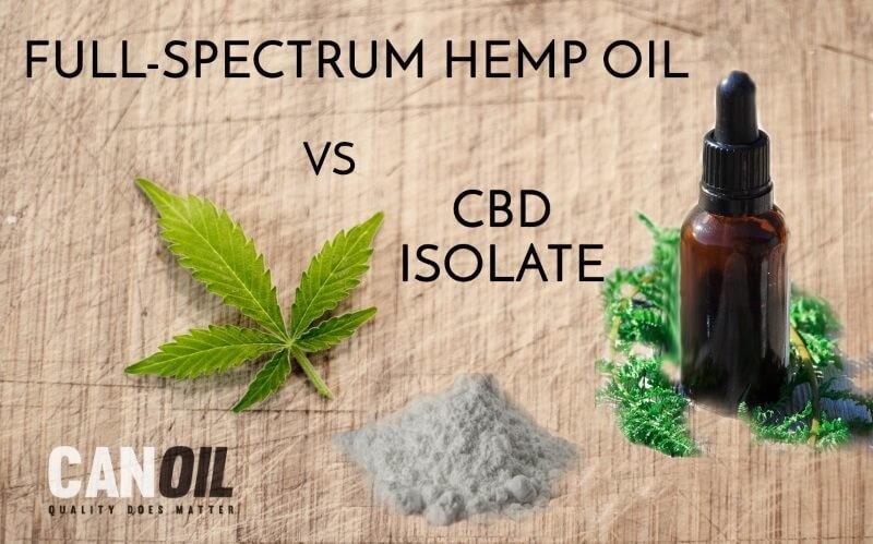 3 varianten CBD olie: CBD olie isolaat - CBD Olie Full Spectrum -  CBD olie Breed spectrum