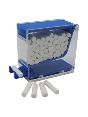 Wattenrollen dispenser blauw