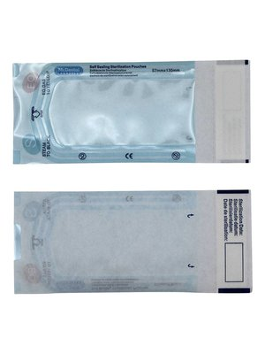 Zelfklevende sterilisatiezakjes 57 x 130 mm