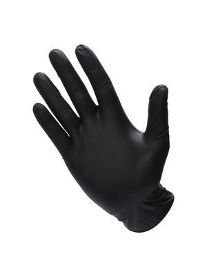 Vinyl handschoenen ongepoederd - zwart – 100 stuks
