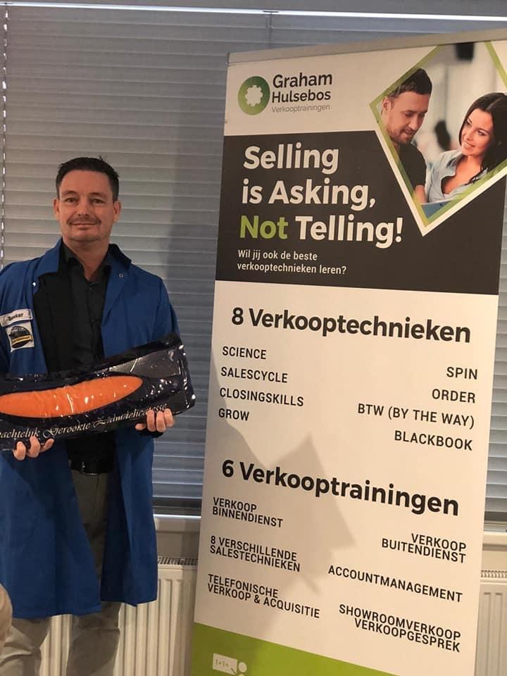Graham Hulsebos verzorgt in-company verkooptraining bij Het Urker Zalmhuys