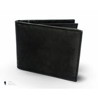 Tresanti zwart lederen tas met grijze visgraat stof