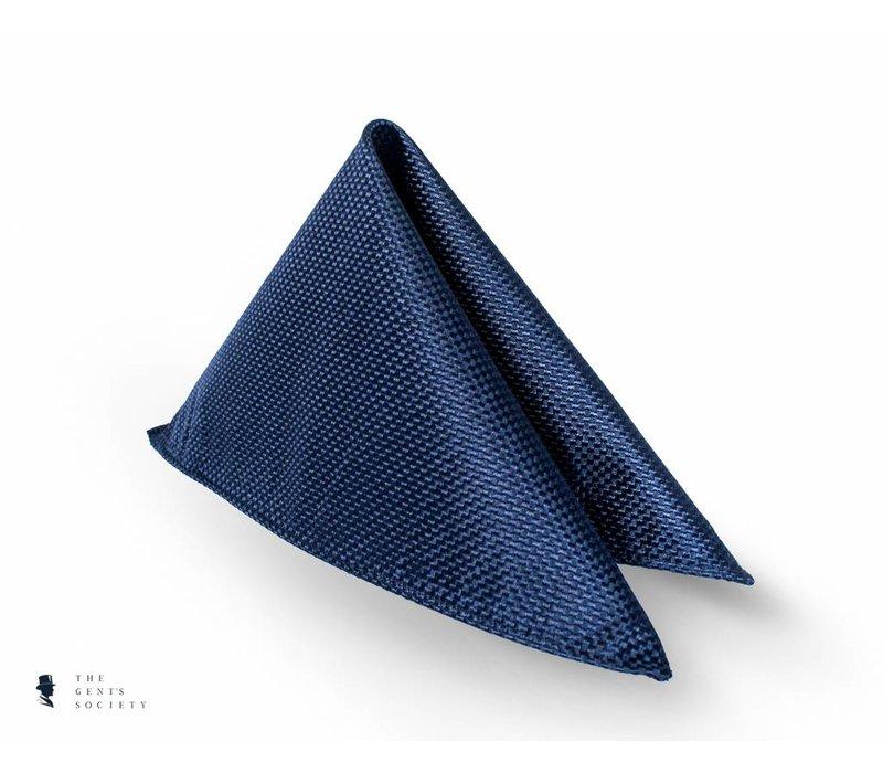 donkerblauw pochet van zijde
