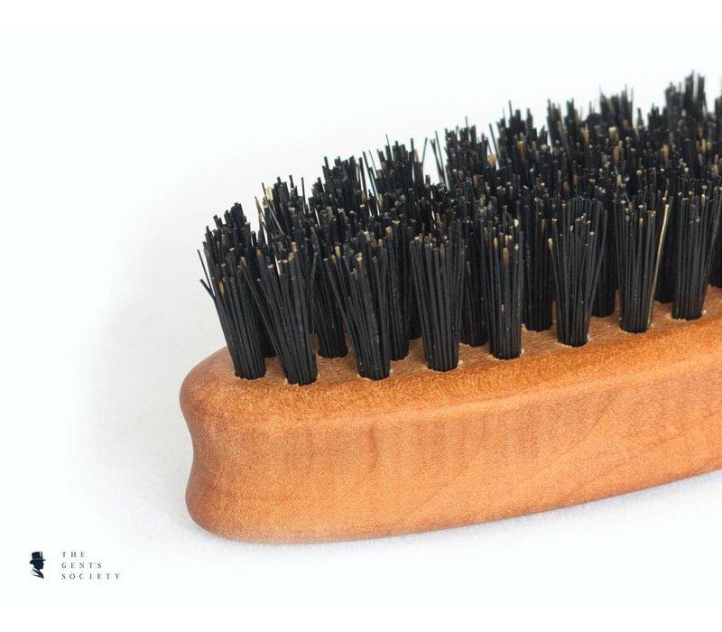 compacte natuurlijke baardborstel met wildzwijnenhaar