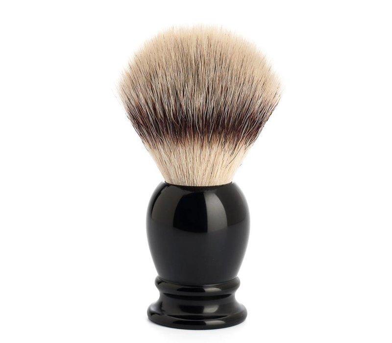luxe zwarte scheerkwast Silvertip Fibre  maar L
