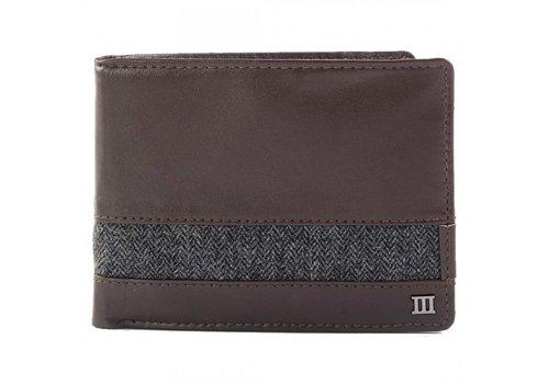Tresanti bruine portemonnee met een stoffen band