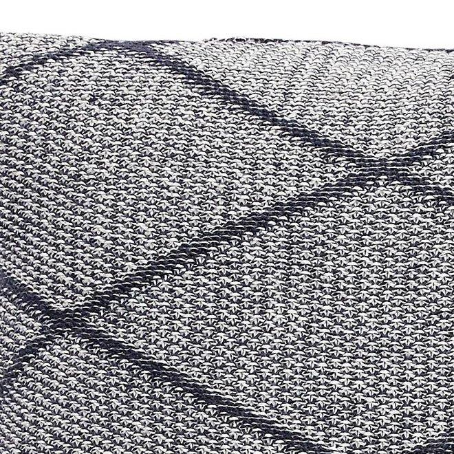 Hubsch kussen, katoen, grijs patroon - 220311