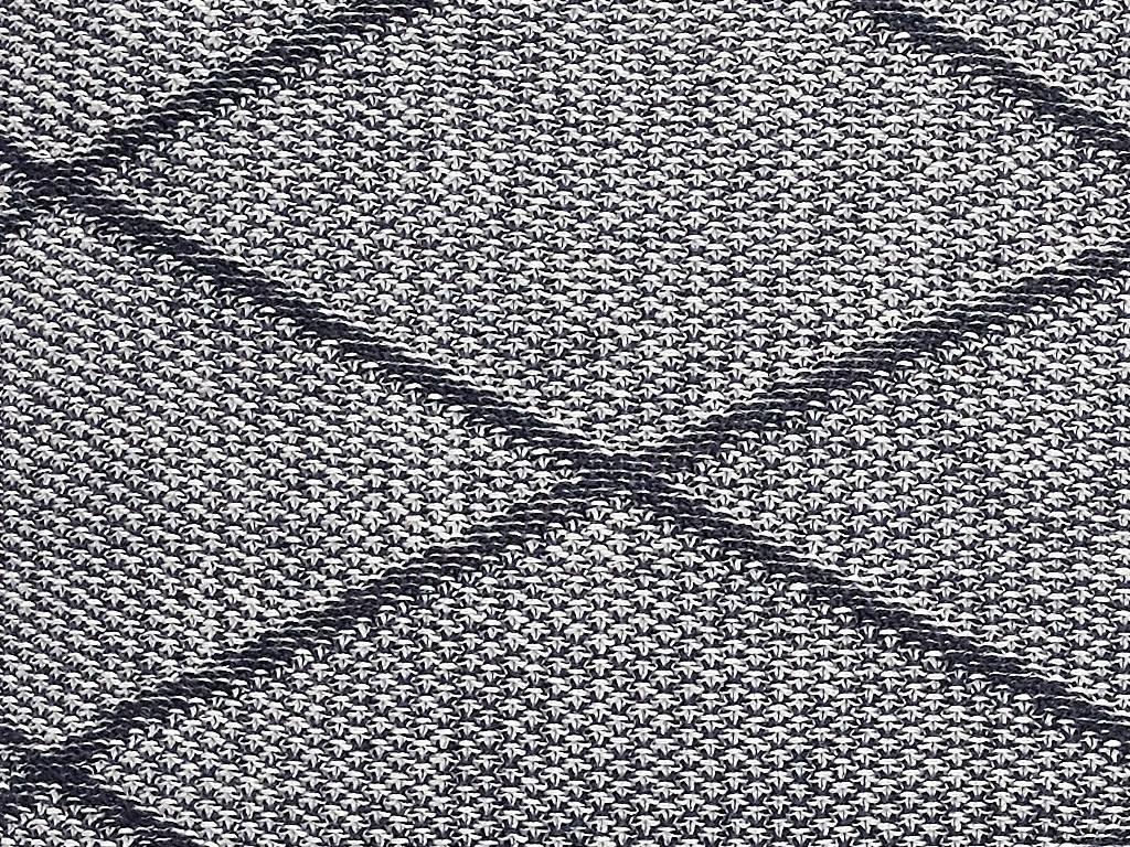 Hubsch kussen, katoen, grijs patroon