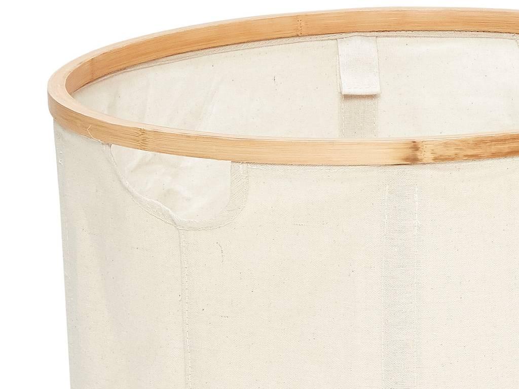 Hubsch wasmand, bamboe/textiel, rond - set van 2-360302-5712772055748