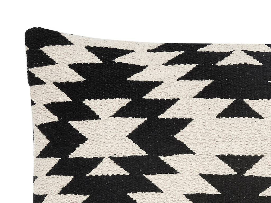 Zwart Wit Kussens : Hübsch kussen katoen zwart wit winkel voor thuis