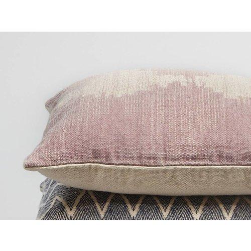 Hubsch kussen, katoen, roze/crème