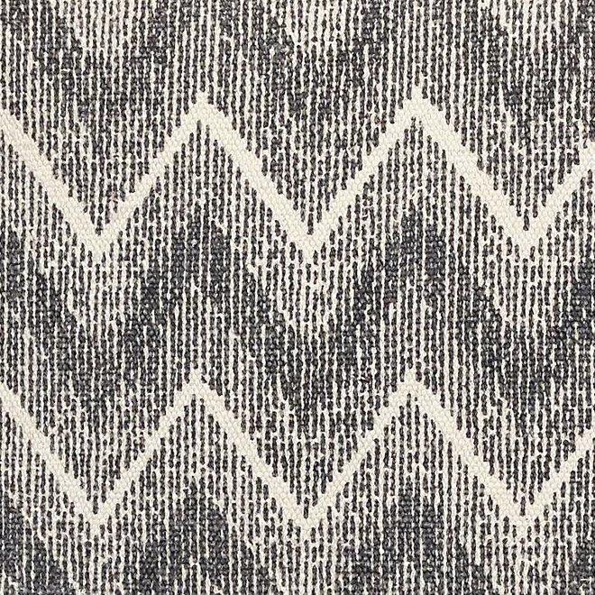 Hubsch kussen, katoen, blauw/wit patroon - 500305