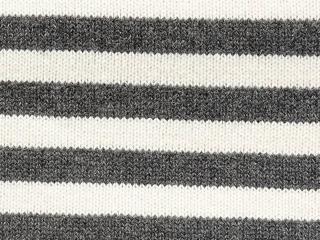 Hubsch plaid, lamswol, zwart/wit strepen, 130x200cm-220108-