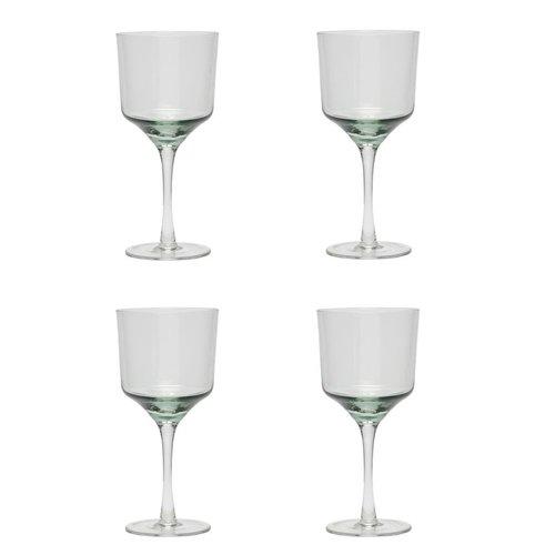 Hubsch wijnglazen rode wijn - helder glas - set van 4
