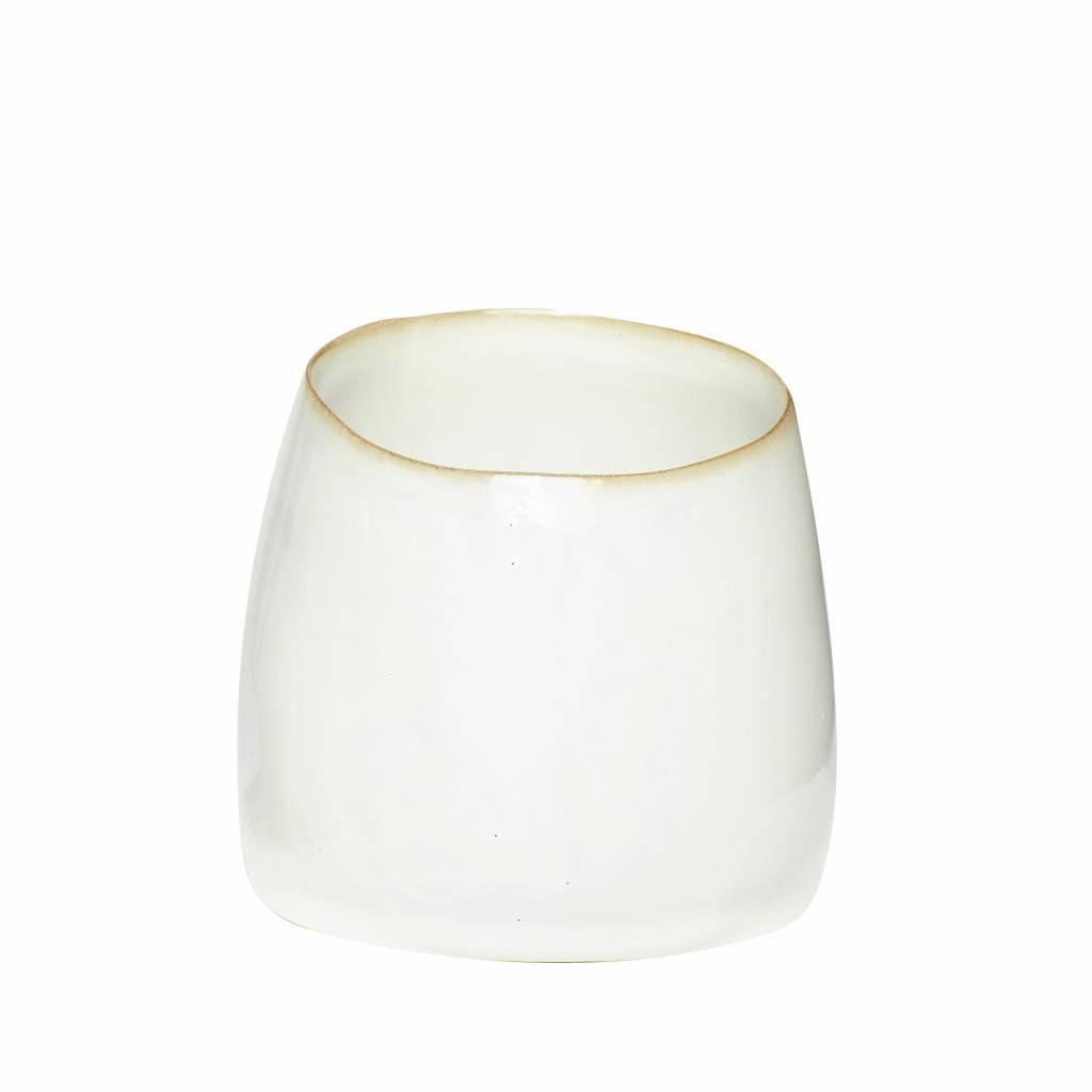 Hubsch beker wit keramiek - ø9 x h8 cm - set van 4-760210-5712772052419