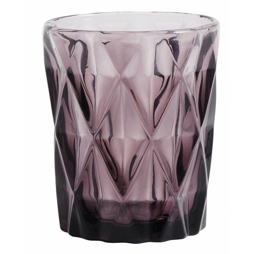 Nordal drinkglas Diamond paars glas - 0,25 L