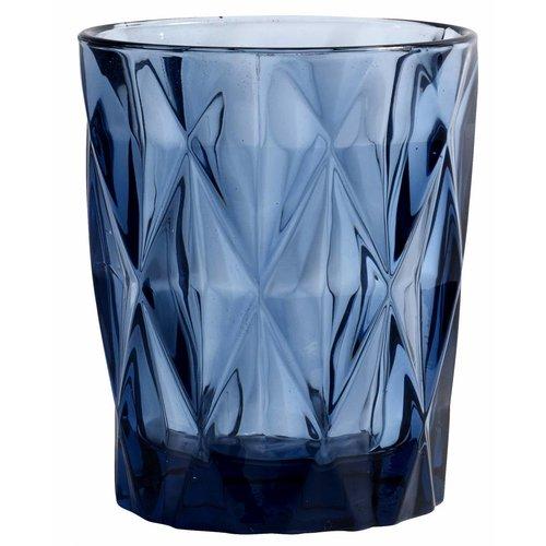 Nordal drinkglas Diamond blauw glas - 0,25 L