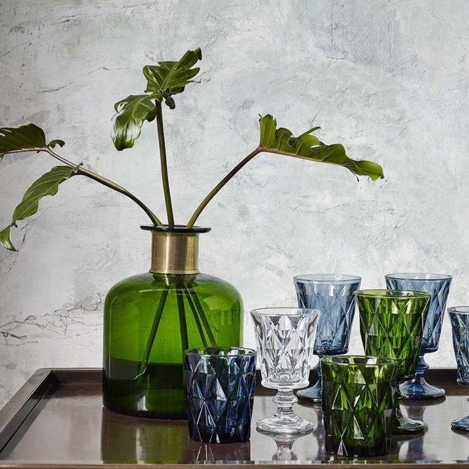 drinkglas Diamond blauw glas - 0,25 L