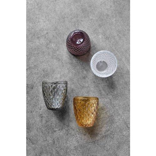 Nordal drinkglas Diamond helder glas - h 10cm