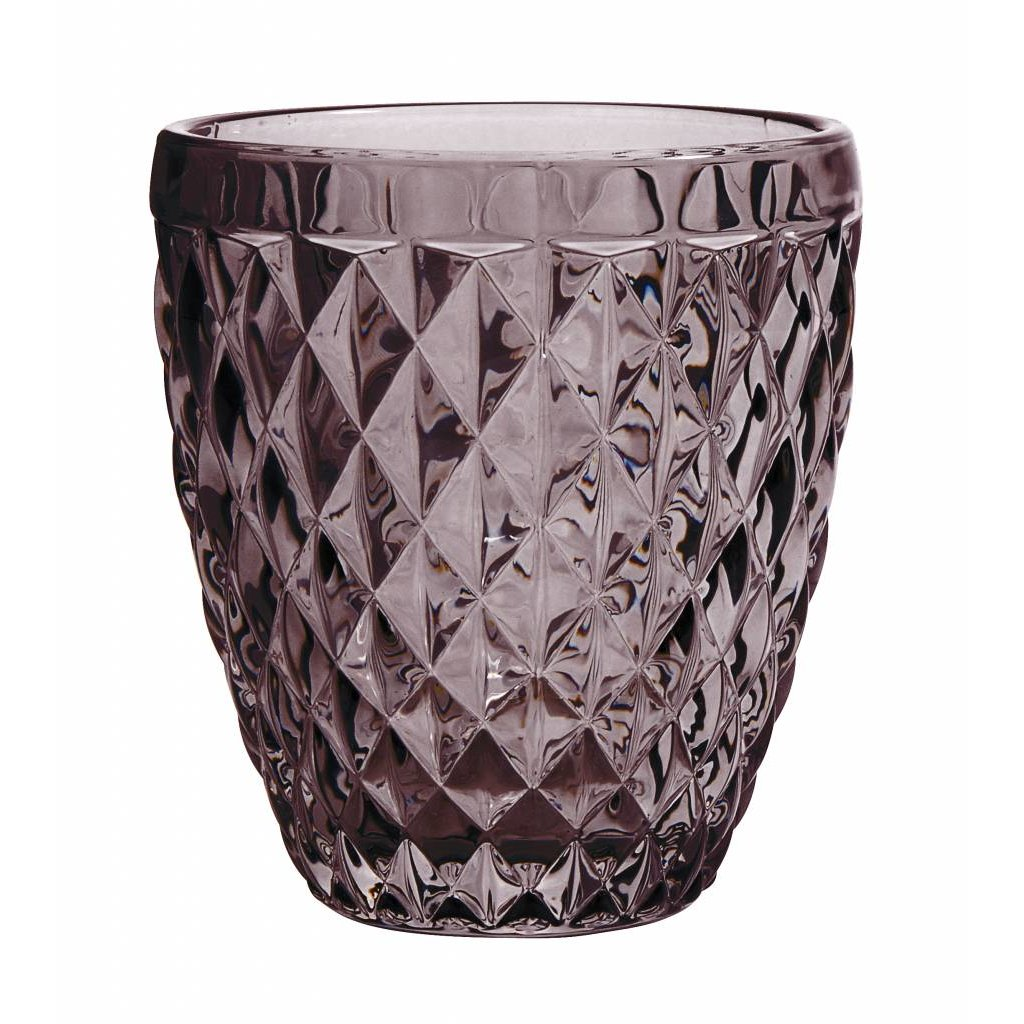 Nordal drinkglas Diamond paars glas - h 10cm - 8963