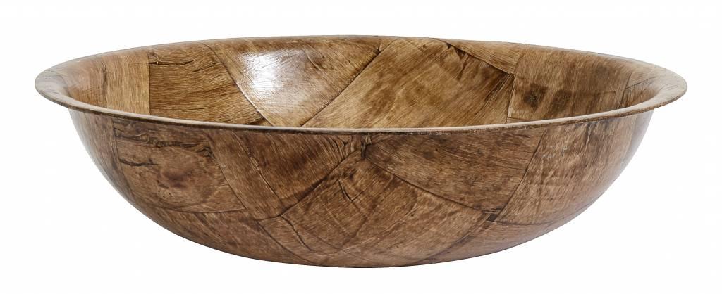 Nordal schaal berkenhout bruin - Ø36 cm-2065-5708309134284