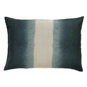 Nordal sierkussenhoes Tie-Dye donkerblauw/beige 50 x 70 cm
