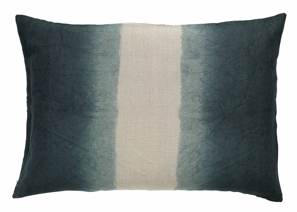 Nordal sierkussenhoes Tie-Dye donkerblauw/beige 50 x 70 cm-9055-5708309117720