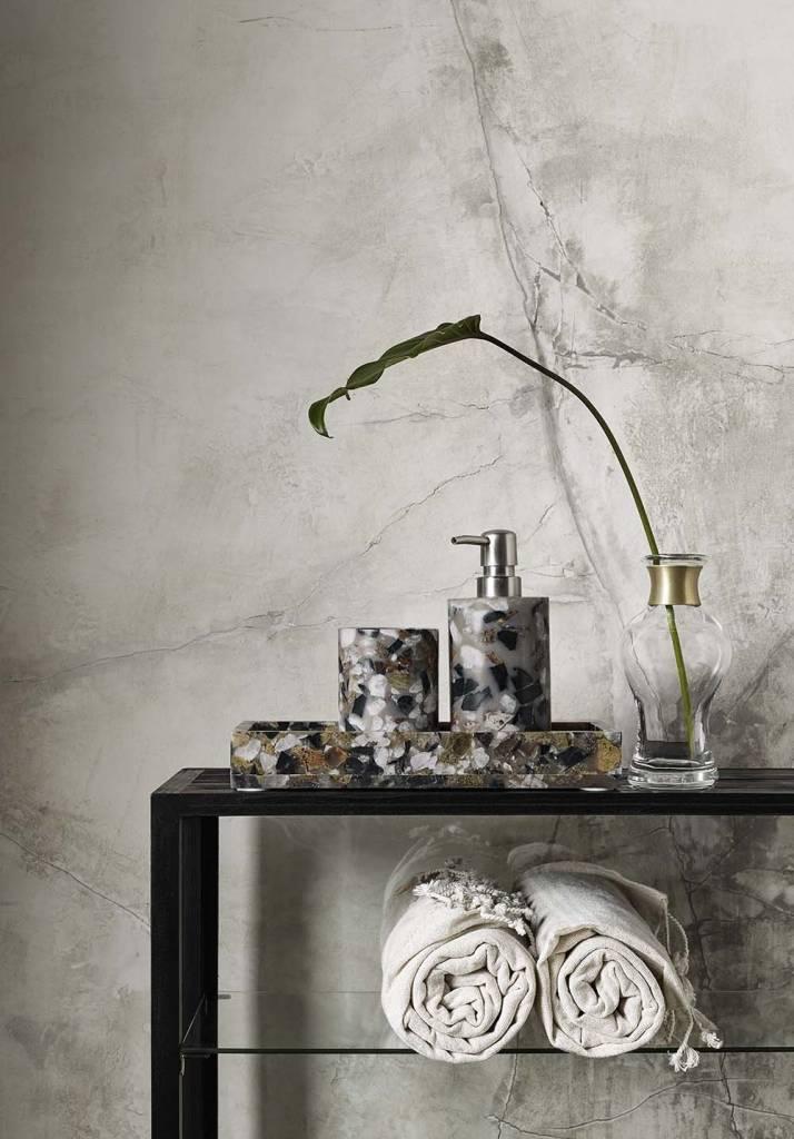 Nordal hammamdoek beige/wit - 90 x 170 cm