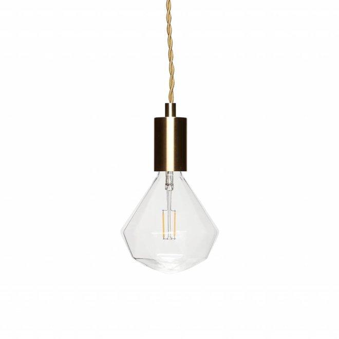 Goudkleurige 1-lamp fitting hanglamp