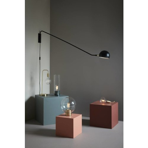 Hubsch hanglamp glas/messing - goud