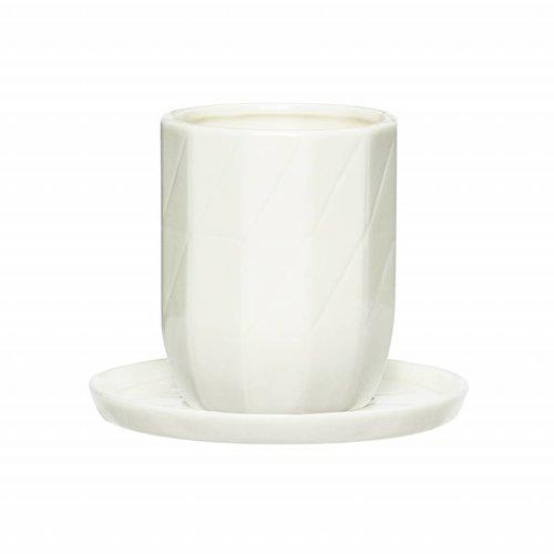 Hubsch kop&schotel wit porselein