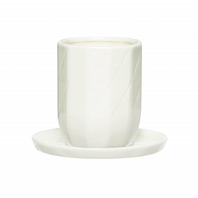 kop&schotel wit porselein