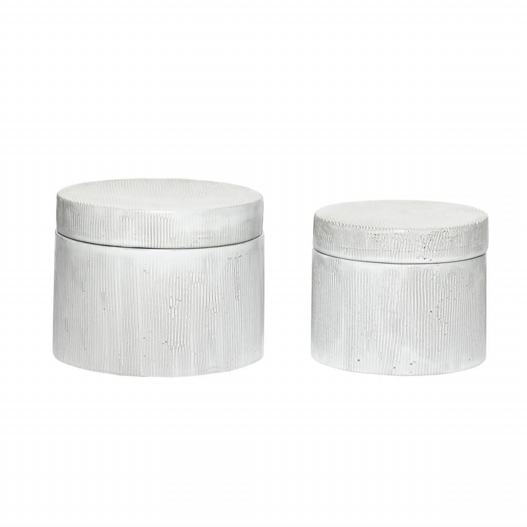 Hubsch voorraadpot wit aardewerk - 640114
