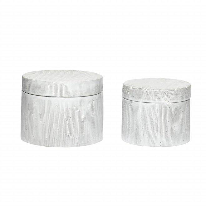 voorraadpot wit aardewerk