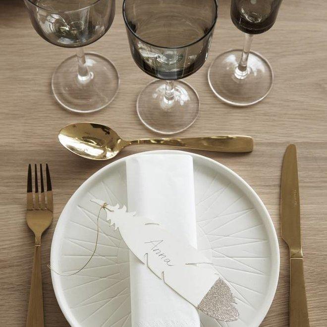 bord wit porselein