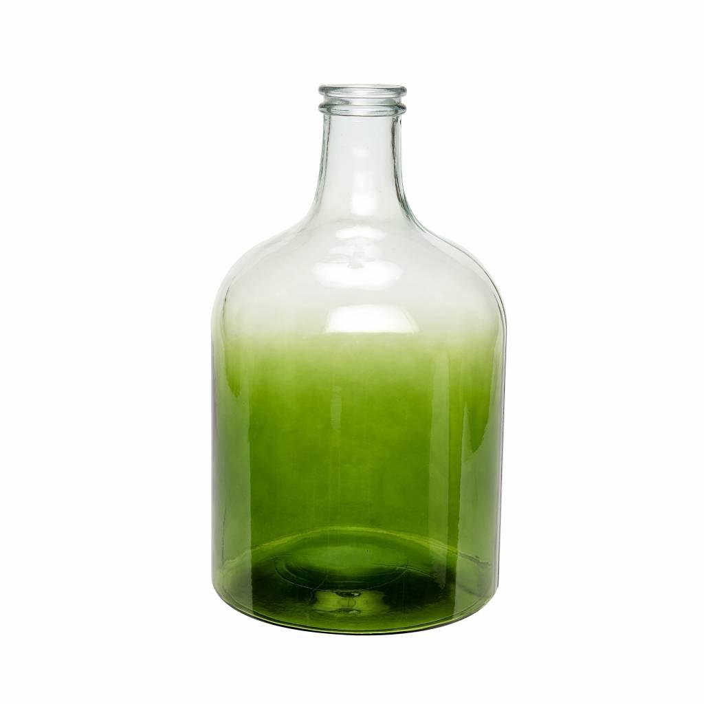 Hubsch Groene glazen vaas groot - ø25 x 44 cm - 698007