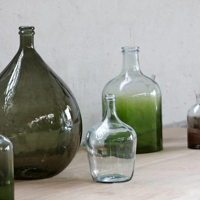Groene glazen vaas groot - ø25 x 44 cm