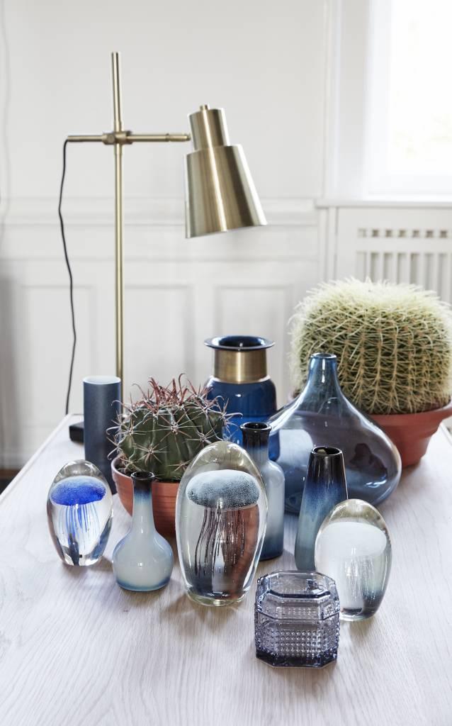 Hubsch Tafellamp goud/zwart metaal/marmer