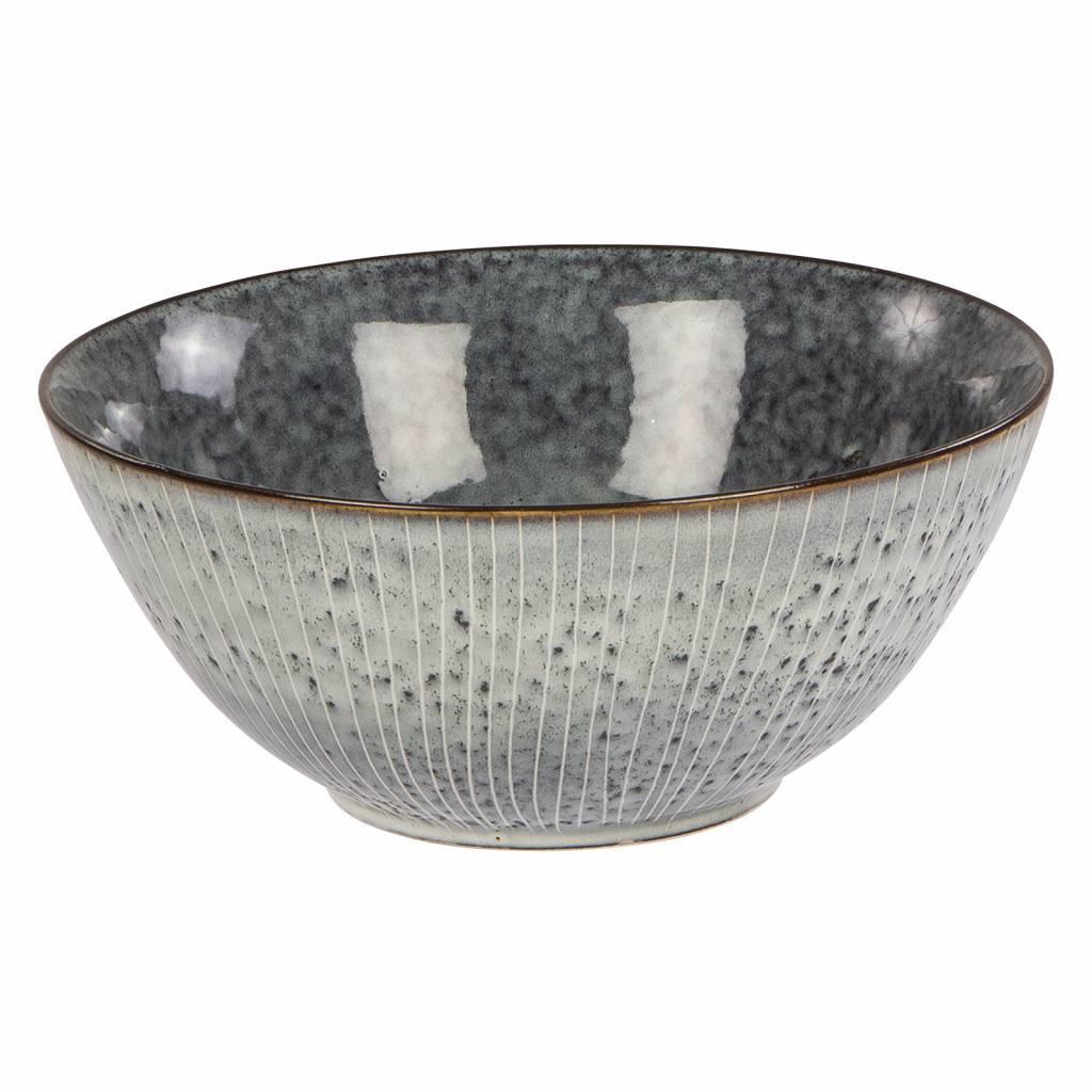 Broste Copenhagen schaal wit/blauw aardewerk-14531035-5709895878644