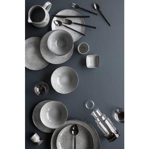 Broste Copenhagen schaal wit/blauw aardewerk