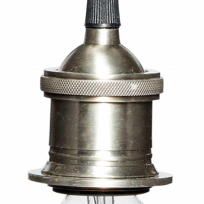 Hubsch fitting/hanglamp zilver metaal - 320203