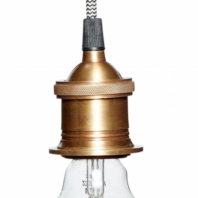 fitting/hanglamp goud metaal