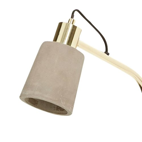 Hubsch vloerlamp goud metaal/beton