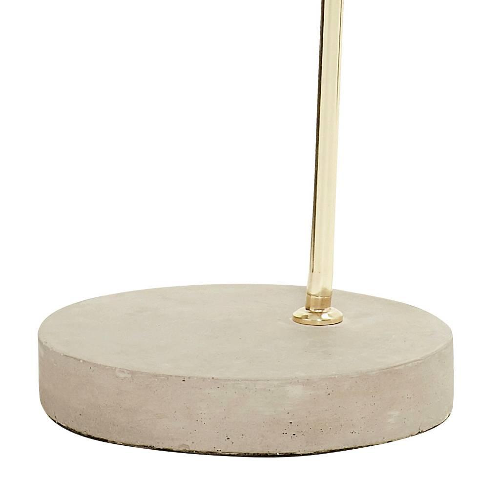 Hubsch vloerlamp goud metaal/beton-370216-5712772052839