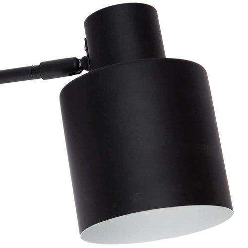 Hubsch wandlamp - zwart/wit metaal - E27/40W - 29 x 12 x 17 cm