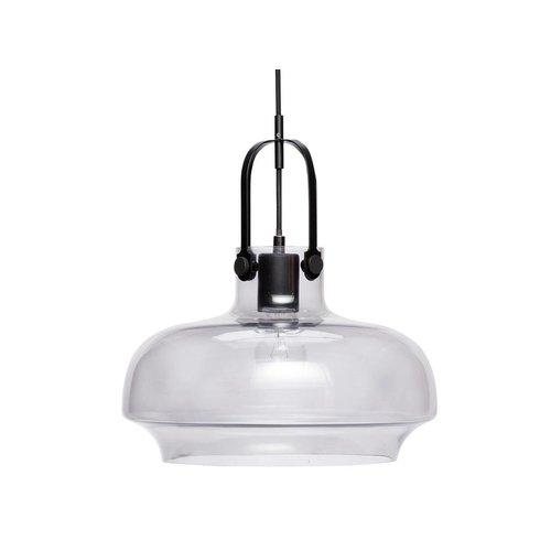 Hubsch hanglamp glas, zwart metaal - 990301 -  ø35 x 35 cm
