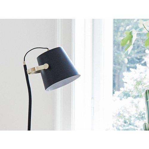 Hubsch vloerlamp zwart/goud metaal