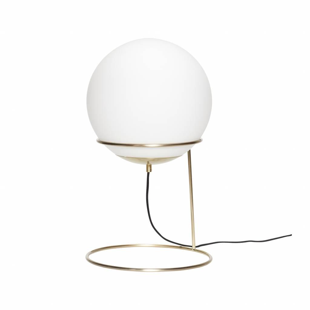 Hubsch Vloerlamp goud/wit metaal/glas-890605-5712772064757