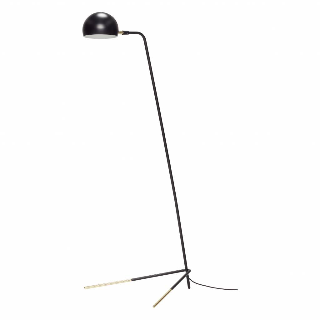 Hubsch Vloerlamp zwart/goud metaal-370411-