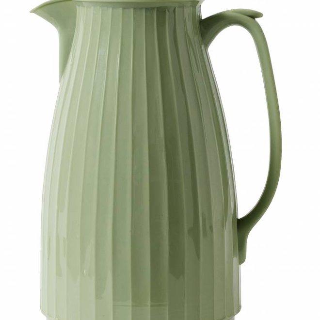 thermoskan mosgroen kunststof/glas